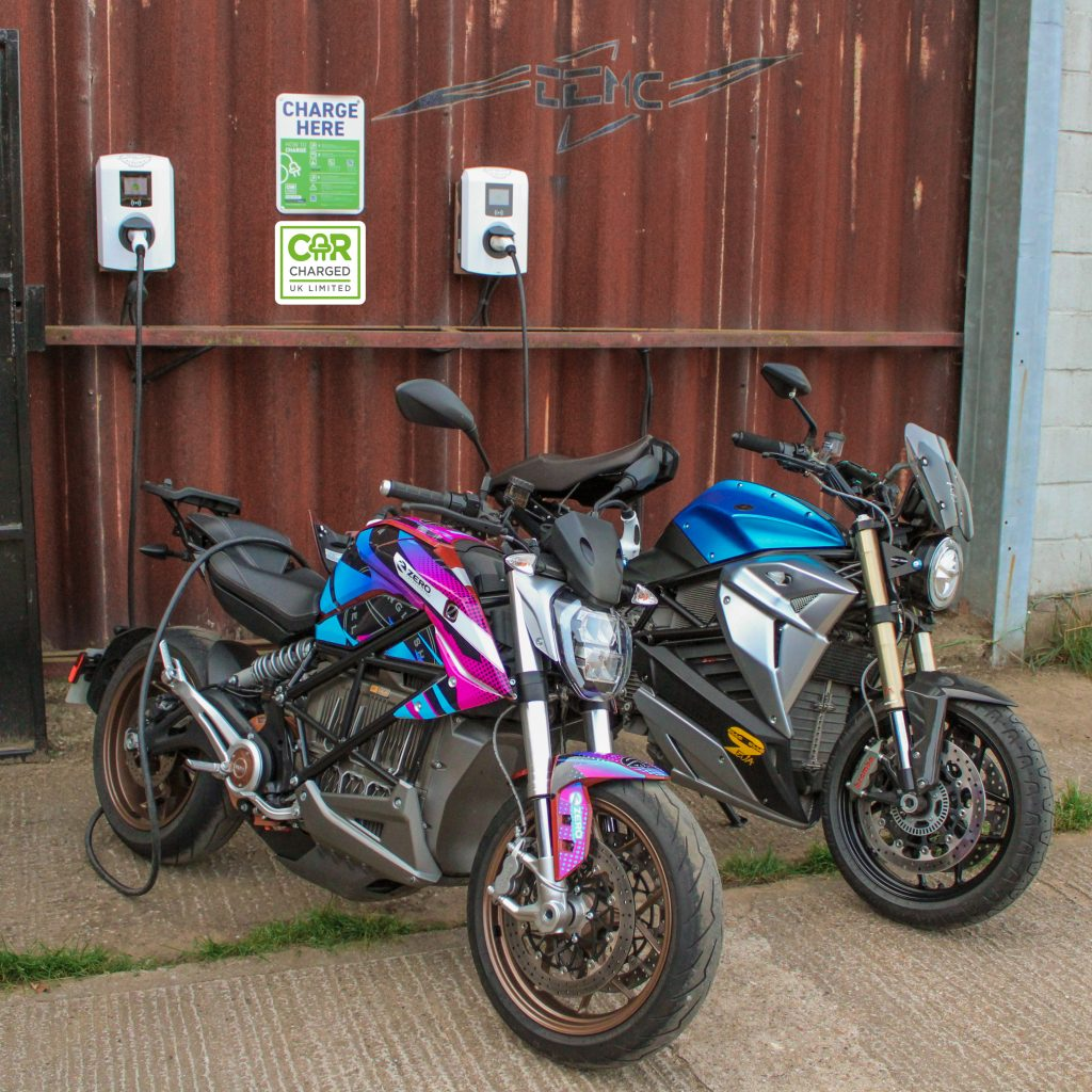 Image courtesy of EEMC: CCUK's newly installed charging points at the EEMC's head office in Norfolk as part of the innovative new partnership.